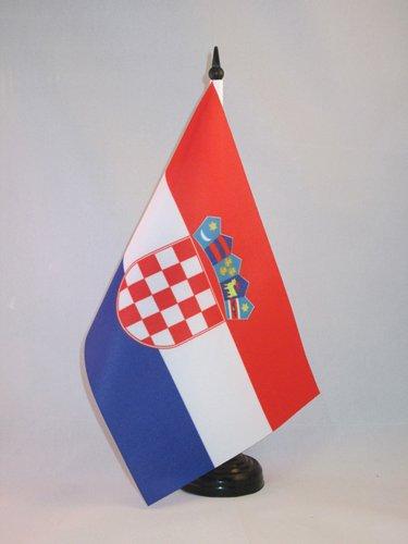 Kroatische Flagge (TISCHFLAGGE KROATIEN 21x14cm - KROATISCHE TISCHFAHNE 14 x 21 cm - flaggen AZ FLAG)