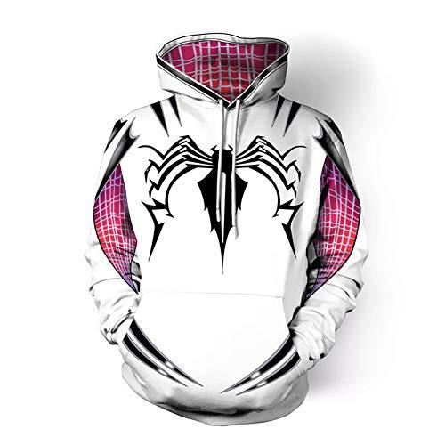 e Spinne Sweatshirt Super Hero Cosplay Kostüm Langarm Jacke Hoodie Tops Druck Outfit ()