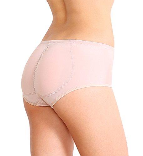STIL 3 SODACODA Kinder oder sehr zierliche Frauen Push Up Unterhose mit dickeren Silikon Einlagen für den runden Knackpo XXXS bis L Beige