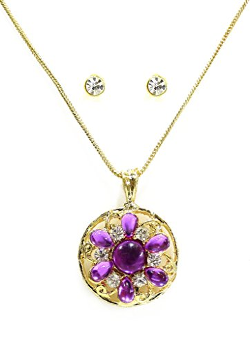 Zaveri Pearls Chakra Chamak Pendant Set for Women-ZPFK3046  available at amazon for Rs.250