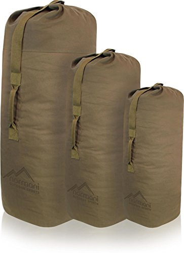 normani US Canvas-Baumwolle Seesack Duffle Bag Classic Sea Farbe Beige Größe 105 x 60 cm