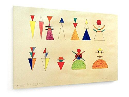 Wassily Kandinsky - Bilder einer Ausstellung, Zahlen, Bild XVI - 120x80 cm - Textil-Leinwandbild auf Keilrahmen - Wand-Bild - Kunst, Gemälde, Foto, Bild auf Leinwand - Alte Meister / Museum