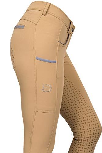 RidersDeal Collection Silikonvollbesatzreithose Limited Silver Design für Damen, beige