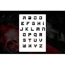 Digital Alfabeto Letras letras Plantilla Stencil
