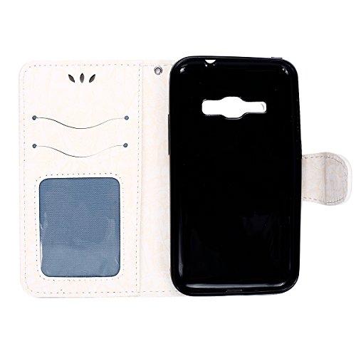 JAWSEU-Samsung-Galaxy-J1-2016-Custodia-in-Pelle-Portafoglio-Cover-Per-Samsung-Galaxy-J12016-Custodia-Lusso-3D-Modello-Puro-Colore-PU-Leather-Folio-Case-Cover-per-Samsung-Galaxy-J1-2016-Custodia-Cover-
