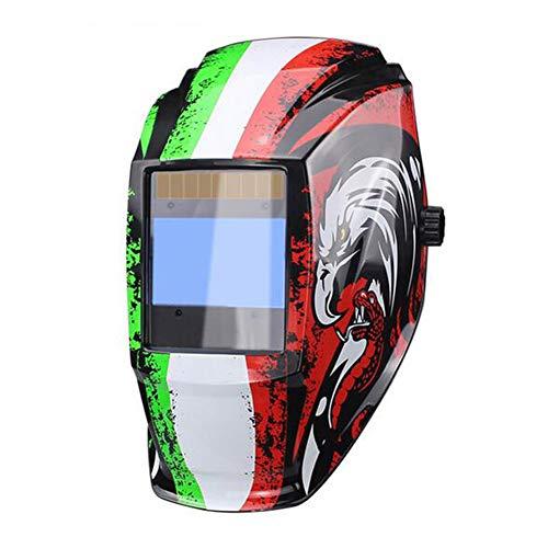 QIHELMET Schweißhelm Automatik Solar Schweißmaske mit Kopfband Verdunkelung einstellbaren Schatten Bereich 4/9-13 für Mig Tig Arc Welder,Eagle -