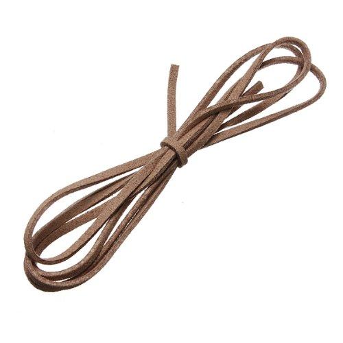 3,3Füße Faux Wildleder Schnur Craft Spitze Leder Flache Kordel DIY Seil Saiten Armband 36Farben wahl Camel? (Cord Wildleder Spitze)