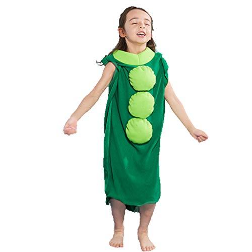 Lazzboy Kinder Halloween Kostüm, Lustige Party Kostüm Erbse Verbunden, Um Kleidung Zu Spielen(Mehrfarbig,S) (Freche Ninja Kostüm)