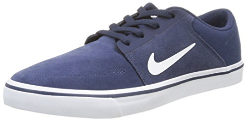Nike Sb Portmore, Baskets Basses Homme, Bleu (Mid Navy/White/Gum Light Brown), 43 EU