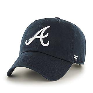 47 MLB Atlanta Braves CLEAN UP Cap - 100% Cotton Twill Unisex Baseball Cap Premium Quality Design and Craftsmanship by Generational Family Sportswear Brand