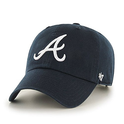 Mlb Atlanta Braves Clean Up Kappe, Navy, OSFA (Atlanta Braves Hüte)