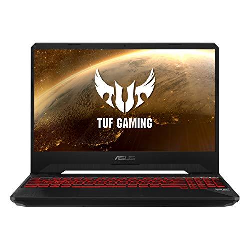 ASUS TUF Gaming FX505DY-BQ024 - Portátil Gaming 15.6' FullHD (Ryzen 5 3550H, 8GB RAM, 512GB SSD, AMD Radeon RX560X-4GB, Sin sistema operativo) Negro Red Matter - Teclado QWERTY Español
