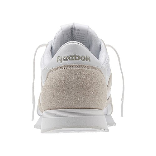 Reebok Classic Nylon, Sneakers Basses Homme Blanc
