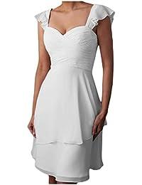 Gorgeous Bride Beliebt Traeger Kurz Chiffon Empire Brautjungfernkleid Cocktailkleid Partykleid