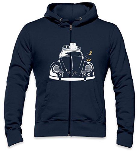 Banksy Beetle Heels Mens Zipper Hoodie XX-Large