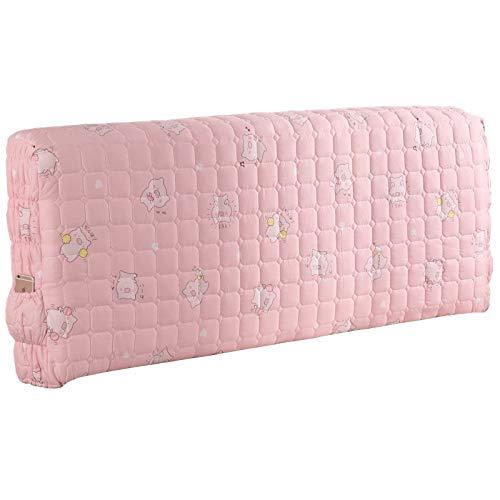 Koreanischen Stil Stoff Stretch Kopfteil Staubschutz All-inclusive-Prinzessin Nacht Soft Pack Bett Rückenlehnenschutz Natürliche Baumwolle Waschbar,A-120 * 60 * 30cm -