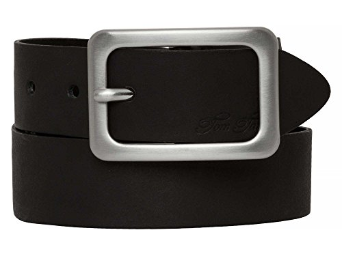 TOM TAILOR Frauen Belts klassischer Leder-Gürtel Gr:-85 EU, Farbe:-Schwarz