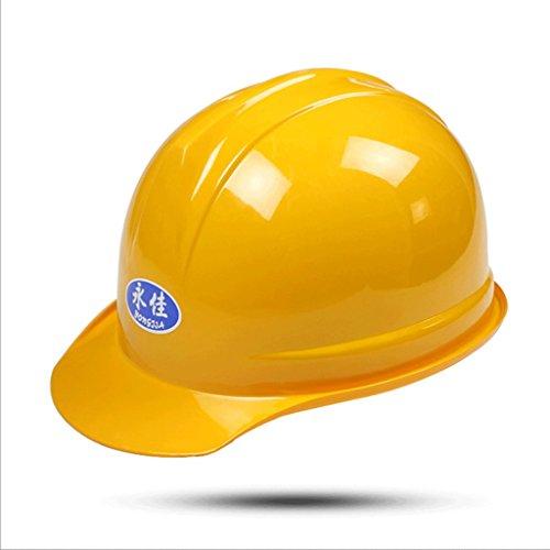 DGF Chapeau de sûreté à haute résistance de chapeau de sécurité de chapeau d'ABS de chantier de construction de chapeau d'ABS de protection contre l'incendie (Couleur : Le jaune)