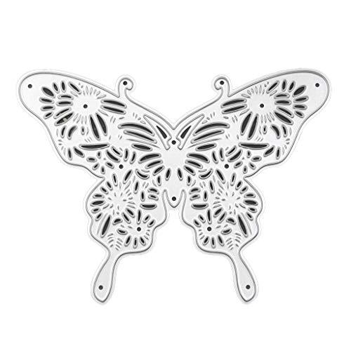 Xurgm - Fustelle a forma di farfalla per scrapbooking, in metallo, per decorazioni natalizie
