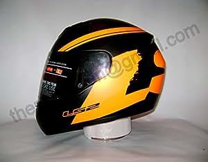 LS2 FF350 Bulky Full Face Helmet with Mercury Visor (Black and Orange, L)