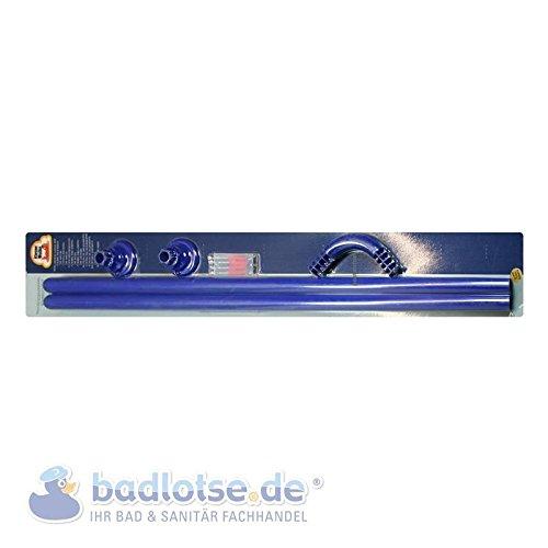 Duschvorhang-Stange 90 x 90 cm Ø 25 mm blau Winkelstange Dusche Badezimmer