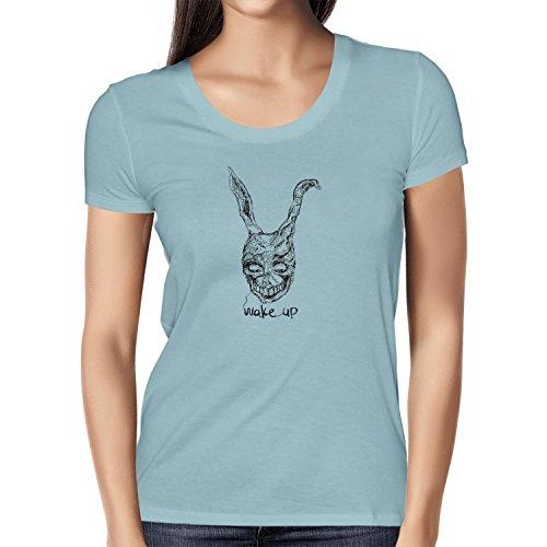 NERDO Wake up - Damen T-Shirt, Größe L, hellblau