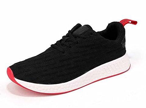 Hommes Chaussures de sport décontractées 2017 Automne Nouveaux couples de jeunes Chaussures de course respirantes ( Color : Black , Size : 38 )