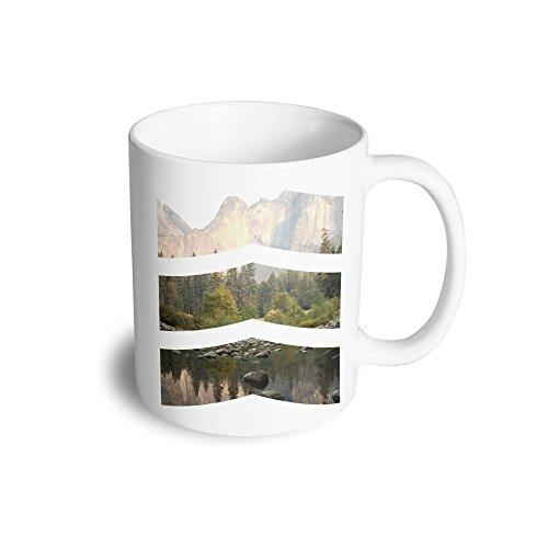 Chevron foto immagine divertente design fotografia immagine geometrica tazza in ceramica