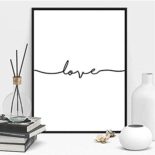 MINRAN DECOR B Pintura Pared Impresión Love Moderna