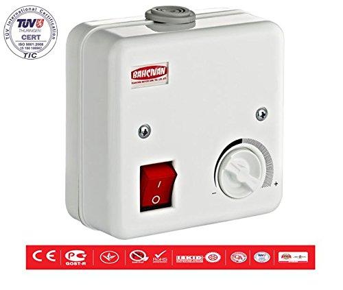 Drehzahlregler Regler Drehzahlsteuerung 5 Amper für Lüfter Ventilatoren Gebläse (230v-gebläse-motor)