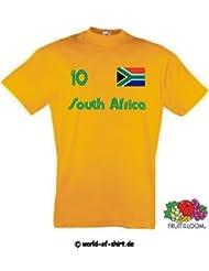 world-of-shirt Herren T-Shirt Südafrika/Southafrica im Trikot Look