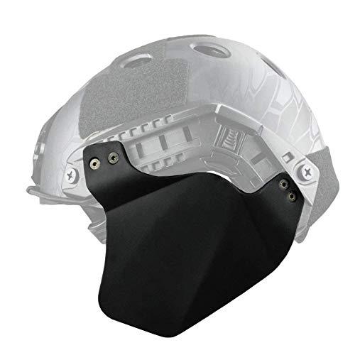 Tactical Helm Ohr-Schutz Airsoft Paintball Up-Rüstung Seitenabdeckung Gehörschutz Schienensatz Für Fast Helm (Zwei Stück),Schwarz