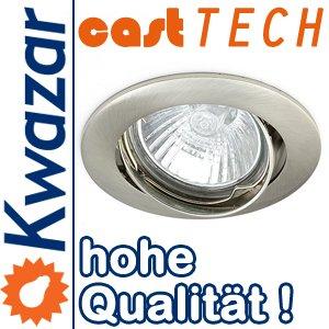 K-24 SPOT IP20 Einbaustrahler Einbauspot Deckenspots GU10 Fassung 230V Farbe Silber. Ideal für LED und Halogen. von Kwazar Leuchte auf Lampenhans.de