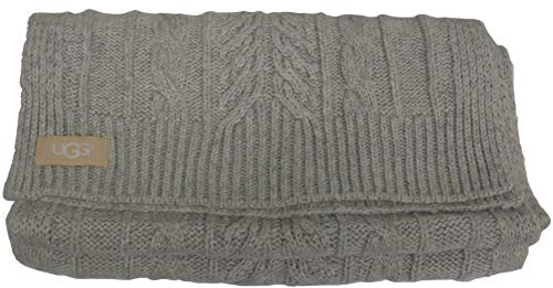 UGG Womens Cable Scarf In Light Grey for sale  Delivered anywhere in UK