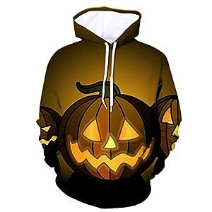 EUZeo Unisex Halloween Stil 3D Printed Hoodies Pullover Kapuzenjacke Kapuzensweatshirt Casual Party Sweatshirts Kapuzenpullover Kapuzenpulli Trainingsanzug