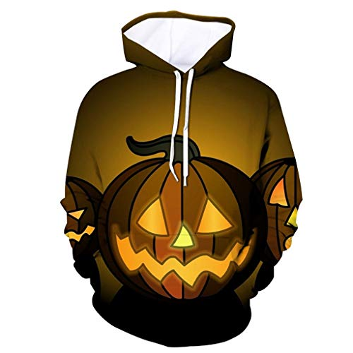 Andouy Herren Horror Halloween Kostüm Komisch 3D Gedruckt Party Kapuze Oberteile Lange Ärmel Kapuzenpullover - Zwangsjacke Kostüm Muster