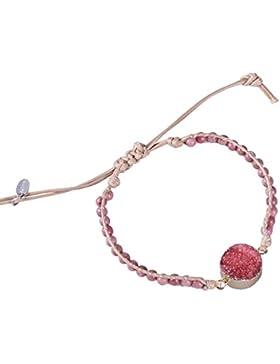 KELITCH Armband Natürliche Rohstein Kristall und Halbedelsteine Perlen Freundschaftsarmbänder