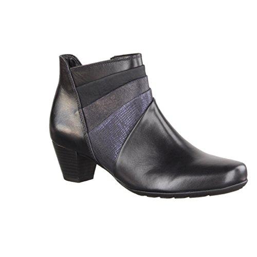 GABOR comfort - Damen Stiefeletten - Blau Schuhe in Übergrößen river (Micro)
