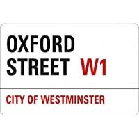 1art1 Londres - Oxford Street, City of Westminster, Street Sign Vinilo Decorativo Pegatina Autoadhesivo (9 x 9cm)