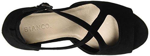 Bianco Cross Sandal Jfm17, Sandales Bout ouvert femme Noir