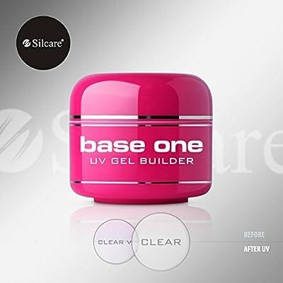 Base One Clear 50g UV Gel Acid Free Nails Builder File Off Gel Silcare