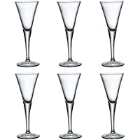 Bormioli Rocco Fiore Claro Tallo Sherry Glasses - 55 ml - Pack de 6