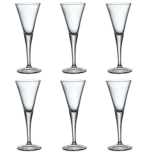 Bormioli Rocco Fiore Klar Stemmed Sherry Glasses - 55ml - Packung mit 6