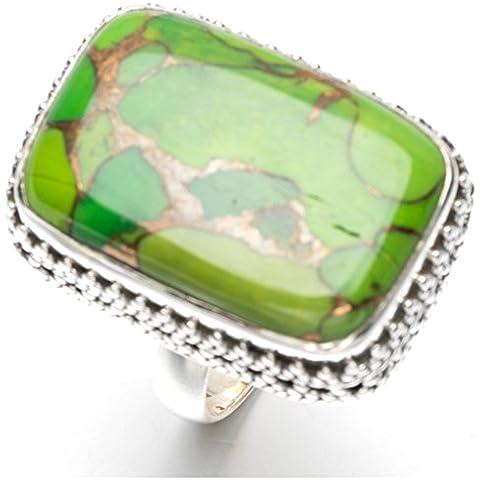stargems (TM) turchese di rame naturale design unico anello in argento Sterling 925US Size 7