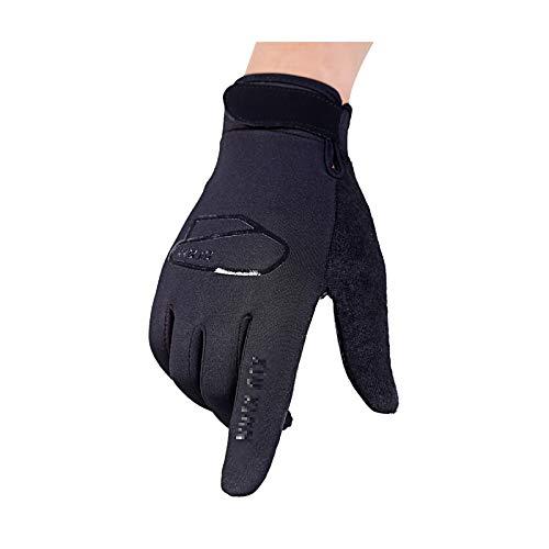 Coniea Mountainbike Handschuhe Freie Finger NylonTaslon Winterhandschuhe Einfache Handschuhe Des Radsporthandschuhs Im Freien Schwarz Large
