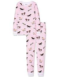 Hatley Organic Cotton Long Sleeve Printed Pyjama Sets, Conjuntos de Pijama para Niñas