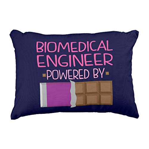 MrRui Biomedical Engineer Chocolate Gift for Woman Throw Pillow Case Cushion Cover 18x18 Inch