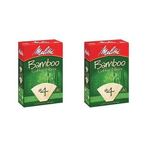 Melitta 63118 #4 Bamboo Filters 80 Count (Pack of 2) by Melitta