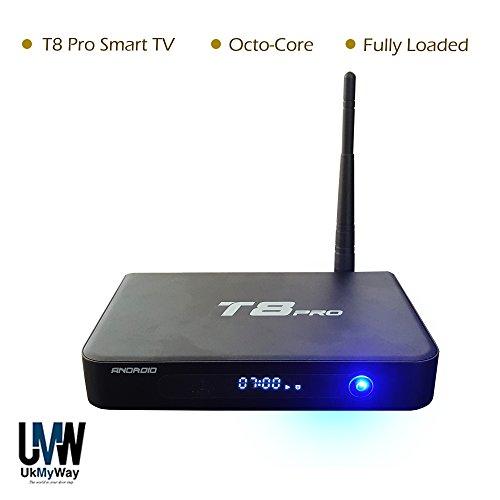 T8 Pro Android Tv Box Smart TV Fully Loaded Kodi 16 0 for live Tv