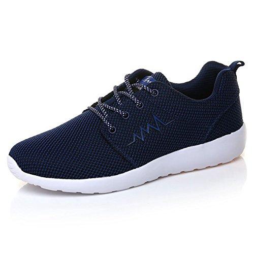 Chaussure de sport basket mode homme sneakers bleu foncé